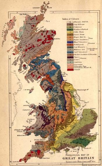 Old geological map.